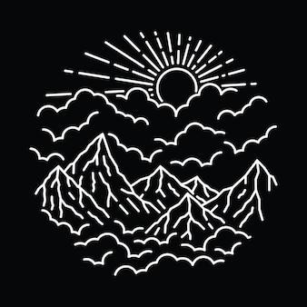 Linea selvaggia natura grafica illustrazione art t-shirt design