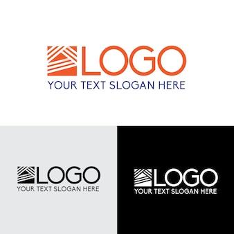 Linea semplice logo astratto edificio di rete