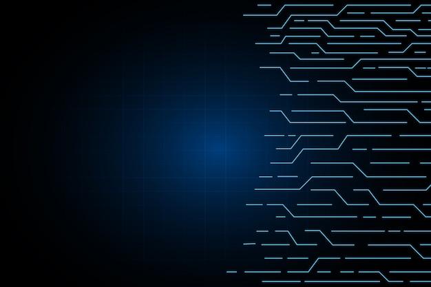 Linea sfondo di elettricità tecnologia circuito astratto