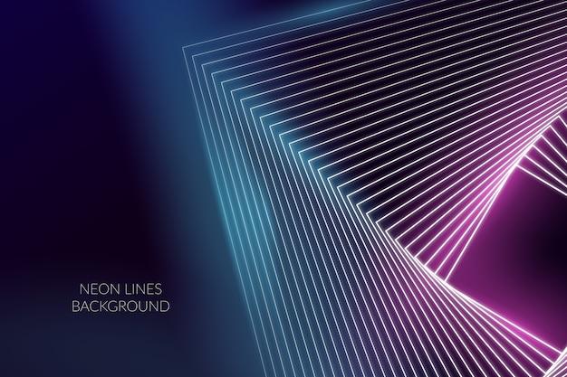 Linee al neon astratte del fondo