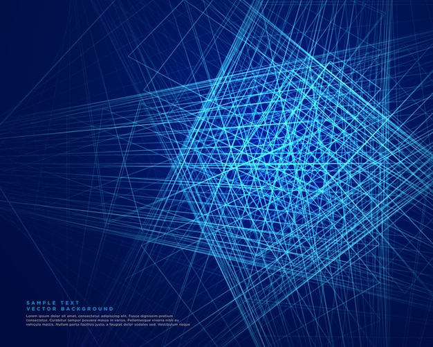 Linee astratte blu tecnologia web background