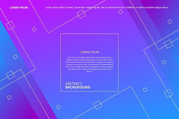Linee astratte gradiente quadrati pattern di sfondo