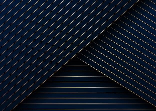 Linee astratte oro sfondo modello diagonale