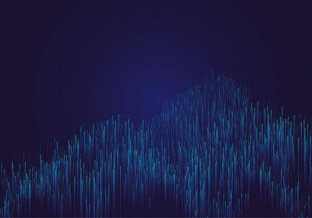 Linee composte da sfondi luminosi