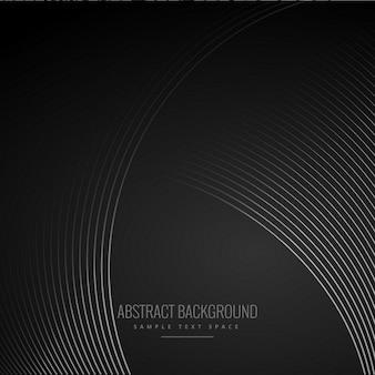 Linee curve morbide a sfondo nero scuro