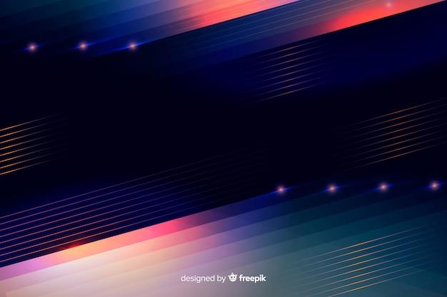 Linee di luce al neon astratte sfondo