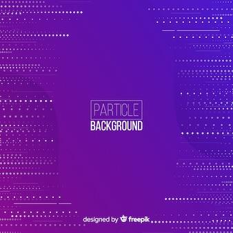 Linee di particelle piatte sfondo viola