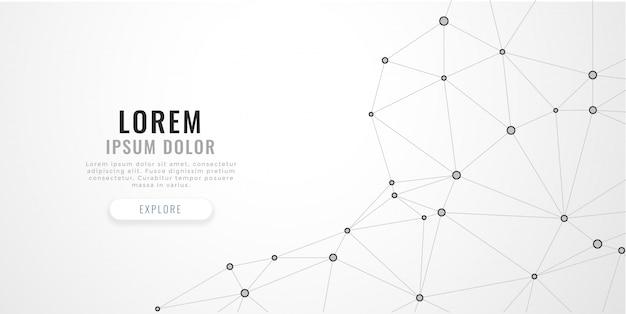 Linee di poli basso astratto mesh su sfondo bianco