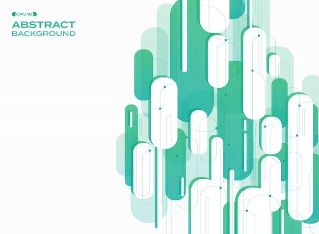 Linee di striscia verde tecnologia modello linee di fondo