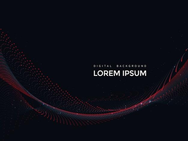 Linee digitali su sfondo nero, disegno astratto mesh