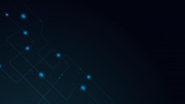 Linee e punti geometrici astratti. sfondo grafico semplice tecnologia. circuito