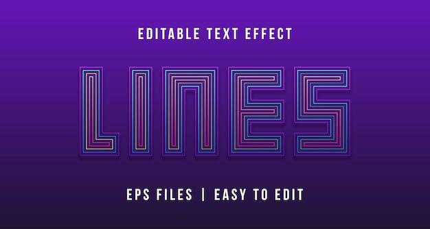 Linee effetto testo, testo modificabile
