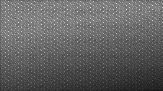 Linee esagonali in acciaio inossidabile. web monocromatico leggero senza cuciture del fondo.