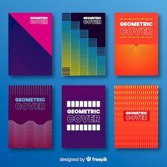 Linee geometriche colorate coprono la collezione