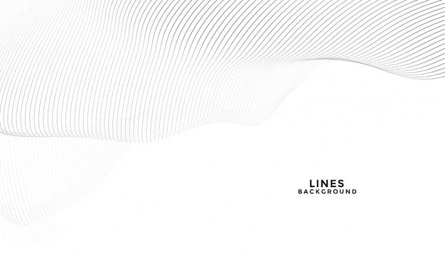 Linee nere astratte alla moda su fondo bianco