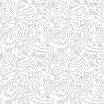 Linee nere sottili ondulate sul modello bianco e senza cuciture