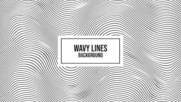 Linee ondulate a strisce distorte sullo sfondo