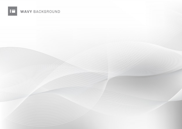 Linee ondulate bianche astratte fondo del modello