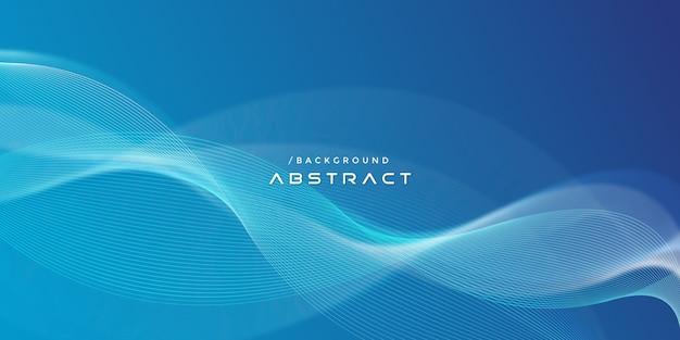 Linee ondulate moderne blu astratte fondo