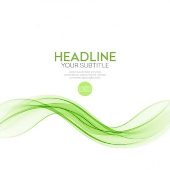 Linee ondulate verdi astratte. sfondo colorato