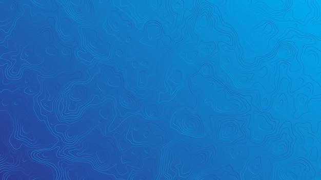 Linee ondulate vettore sfondo blu