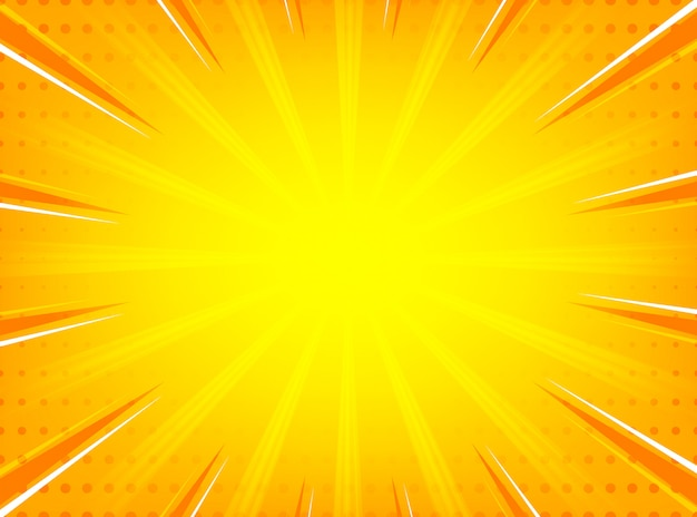 Linee radiali astratto sunburst comico sfondo