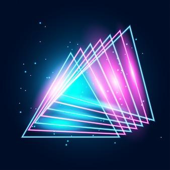 Linee techno incandescente al neon