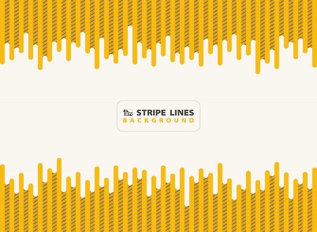 Lineetta gialla con linee nere a righe modello sfondo design moderno