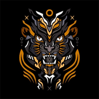 Lion army premium vector