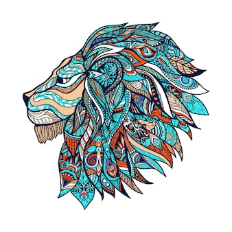 Lion colored illustration