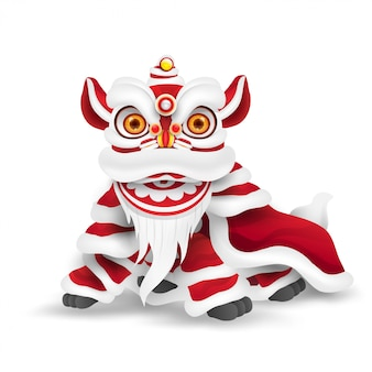 Lion dance cinese di nuovo anno.