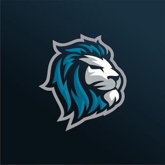 Lion esports logo vettoriale