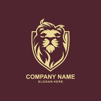 Lion logo design premium