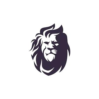 Lion logo design vettoriale