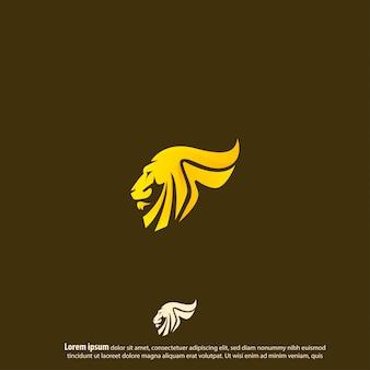 Lion logo vector design
