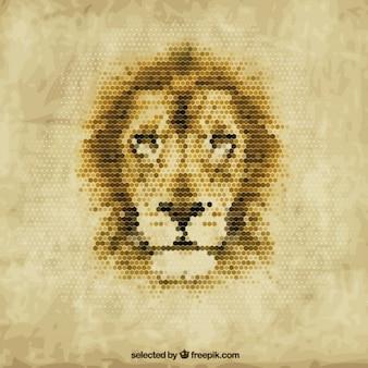 Lion poligonale