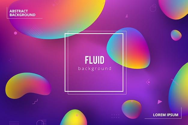 Liquido liquido forme di sfondo
