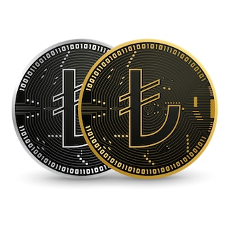 Lira turca digitale moneta in oro nero