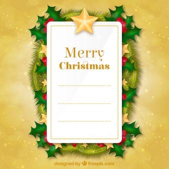 Lista dei desideri su un ornamenti di natale