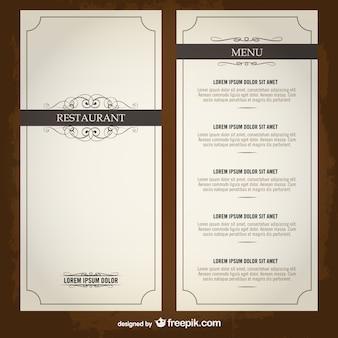 Lista dei menu food template