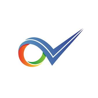 Lista di controllo logo vettoriale