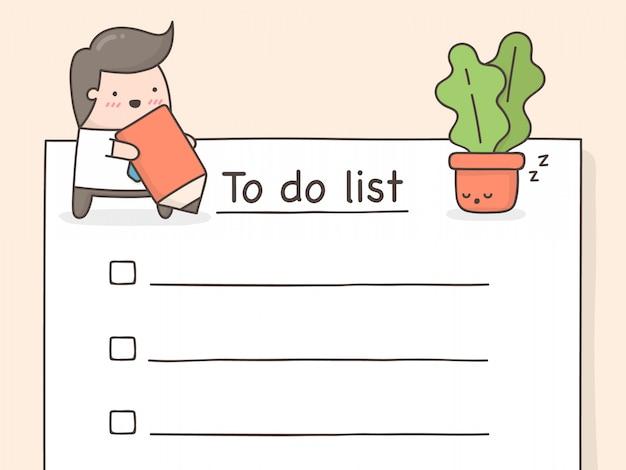 Lista di cose da fare.