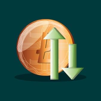 Litecoin e frecce finanziarie