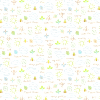 Little bee pattern