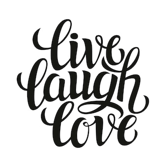 Live laugh love, lettering card