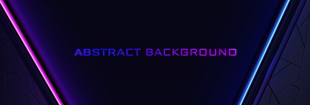 Lo sfondo al neon astratto con una linea di luce blu e rosa e una trama.