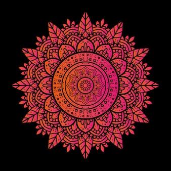 Lo sfondo di design di un mandala di lusso con un semplice motivo