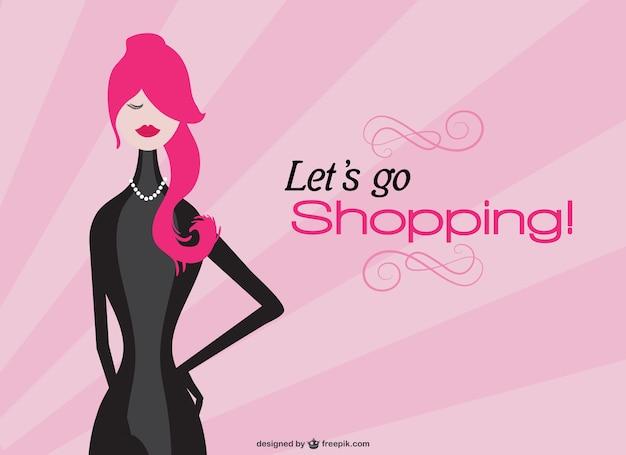 Lo shopping vettore ragazza