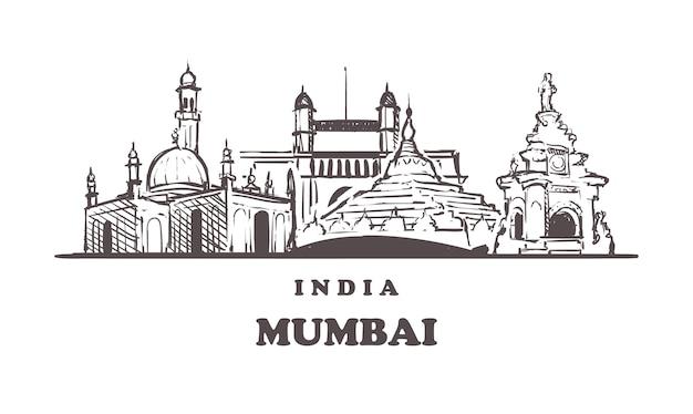 Lo skyline di mumbai, india