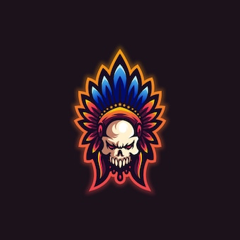 Lo slogan del logo teschio qui
